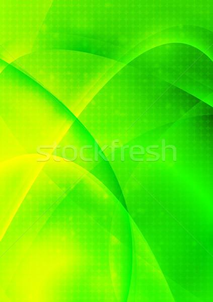 зеленый вектора абстракция аннотация волнистый дизайна Сток-фото © saicle