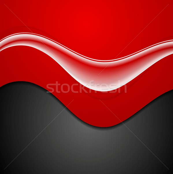 Abstract contrast golven vector ontwerp textuur Stockfoto © saicle