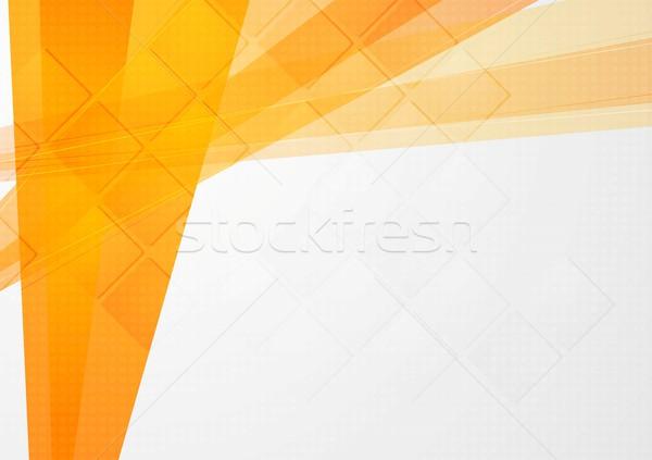 Streszczenie pomarańczowy techniczne tle wektora projektu Zdjęcia stock © saicle