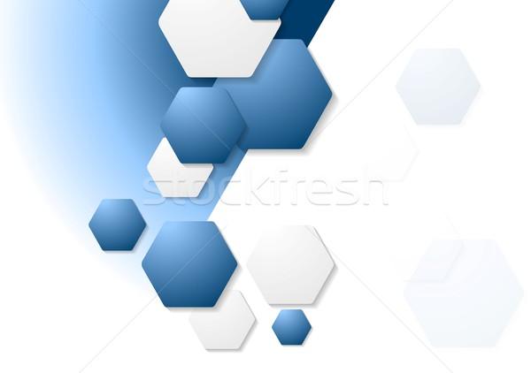 Résumé géométrie entreprise vecteur design texture Photo stock © saicle