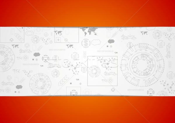 Tech engineering drawing abstract background Stock photo © saicle