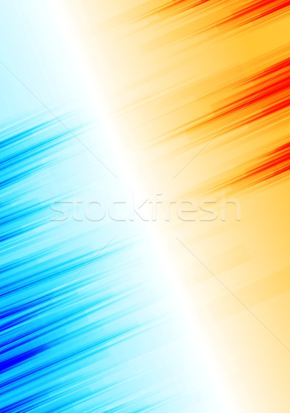 Oranje Blauw abstract grunge vector Stockfoto © saicle