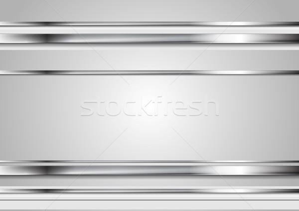 Minimal abstract technology metallic vector background Stock photo © saicle
