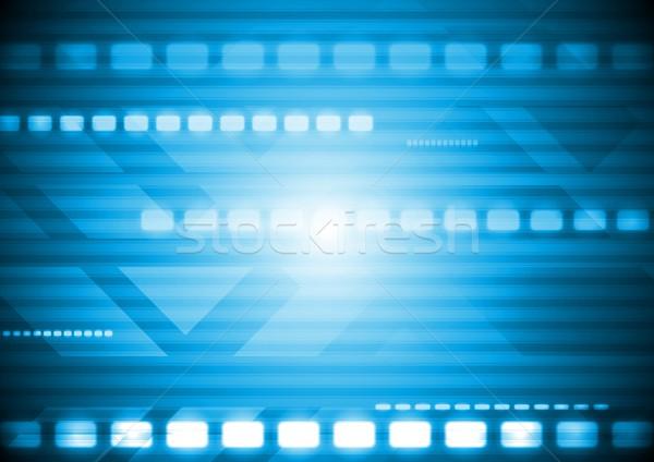 Kleurrijk technische abstract Blauw technologie vector Stockfoto © saicle