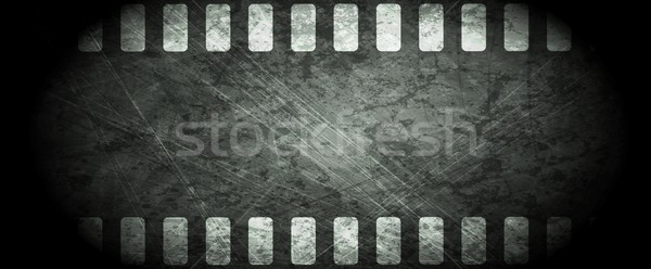 Dark grunge filmstrip abstract background Stock photo © saicle