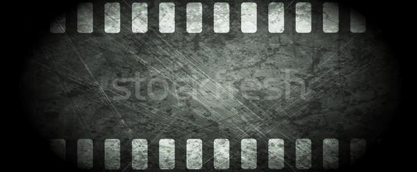 Karanlık grunge filmstrip soyut vektör dizayn Stok fotoğraf © saicle