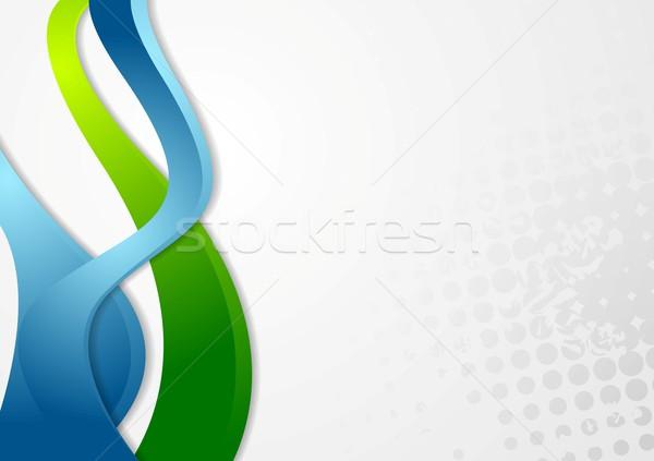Abstract grunge wavy background Stock photo © saicle