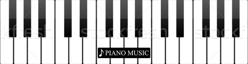 Pianotoetsen abstract musical licht toetsenbord achtergrond Stockfoto © saicle