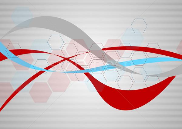Minimal tech vector background Stock photo © saicle