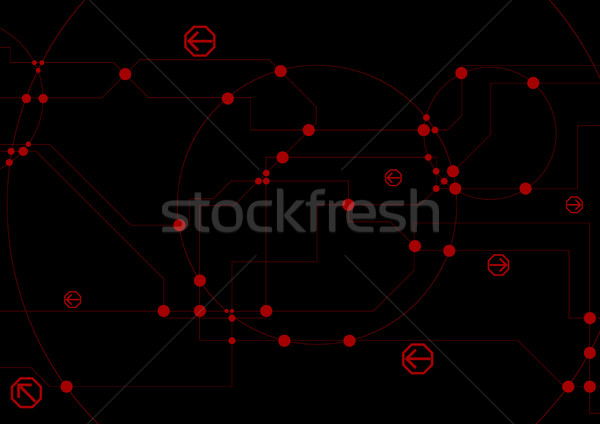Abstract hi-tech background with circuit board chip Stock photo © saicle