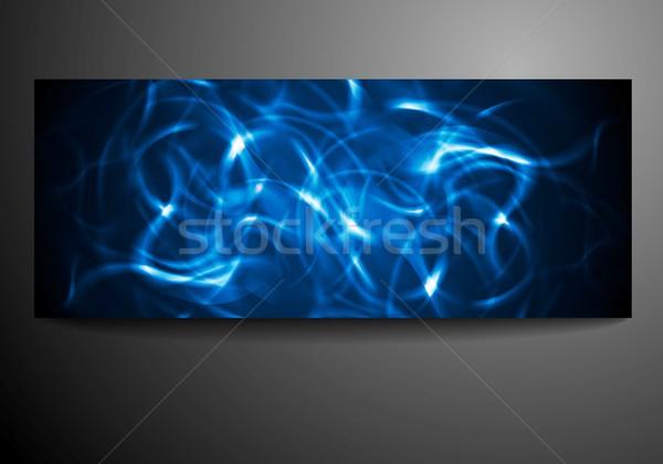 Сток-фото: неоновых · волны · вектора · аннотация · расплывчатый · технологий