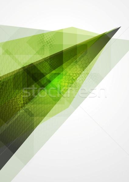 Technologie géométrie résumé vert texture lumière Photo stock © saicle