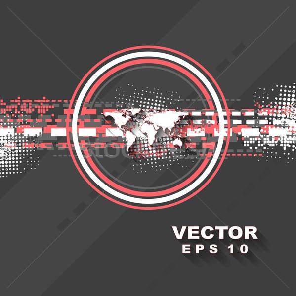 Minimalny tech wektora streszczenie projektu tekstury Zdjęcia stock © saicle