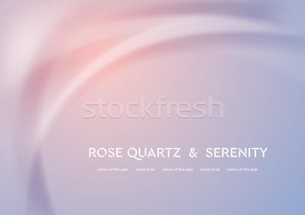 Futuristic rose quartz and serenity wavy background Stock photo © saicle