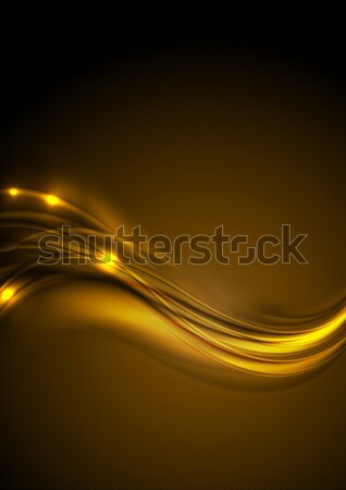 Golden smooth glowing luminous waves background Stock photo © saicle