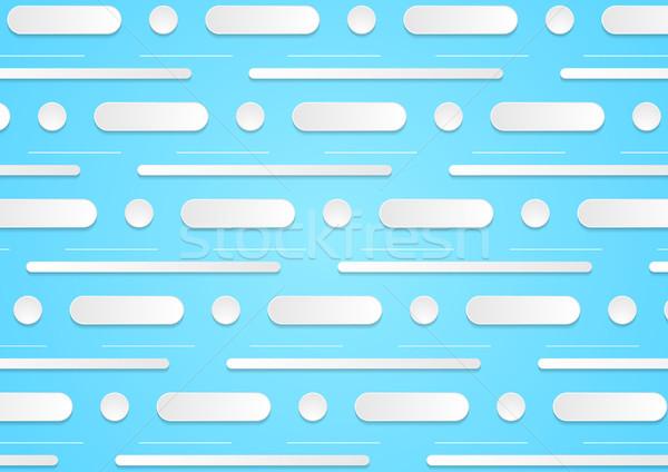 Streszczenie minimalny korporacyjnych cyan niebieski wektora Zdjęcia stock © saicle