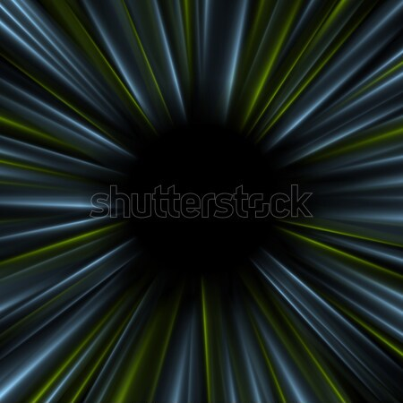 Blue and green dark glowing abstract beams background Stock photo © saicle