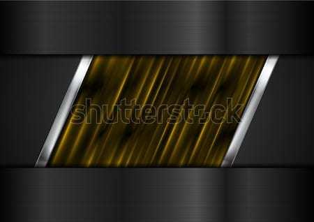 Tech fekete narancs fémes csíkok fényes Stock fotó © saicle