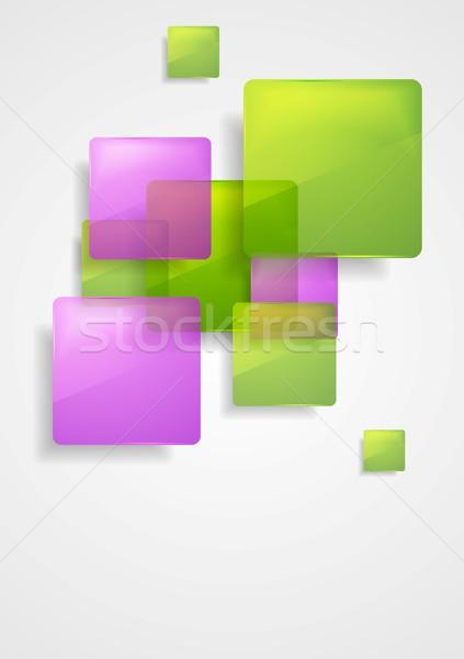 カラフル ベクトル 正方形 デザイン 抽象的な ストックフォト © saicle