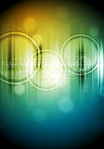 Abstract hi-tech background with circles Stock photo © saicle