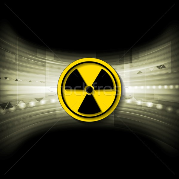 Tech background with radioactive symbol Stock photo © saicle