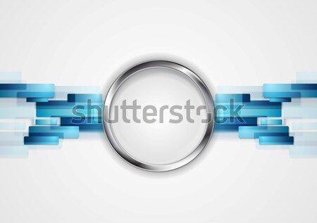 Niebieski metal kółko wektora projektu tekstury Zdjęcia stock © saicle