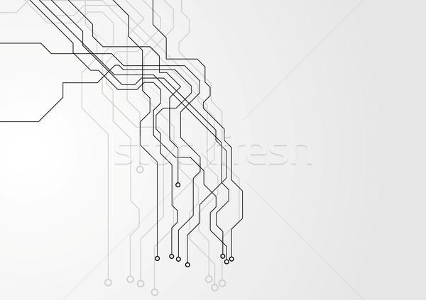 Grijs circuit board vector ontwerp textuur technologie Stockfoto © saicle