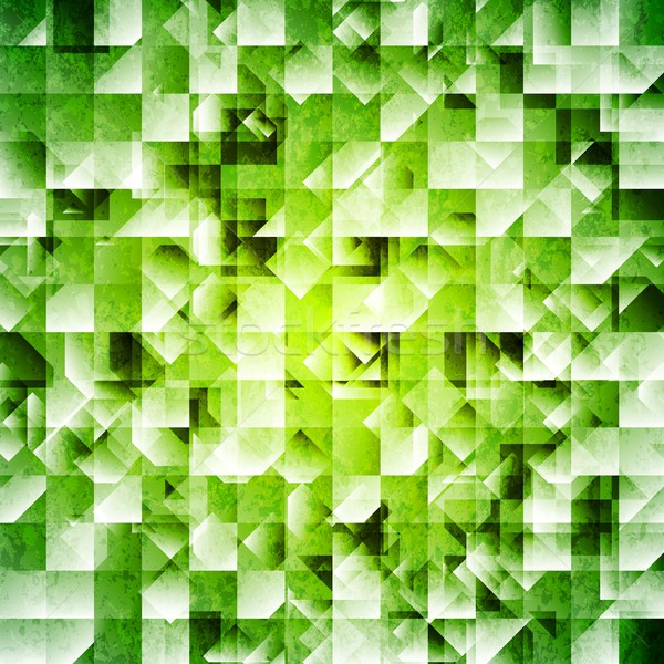Stock photo: Tech green iridescent background