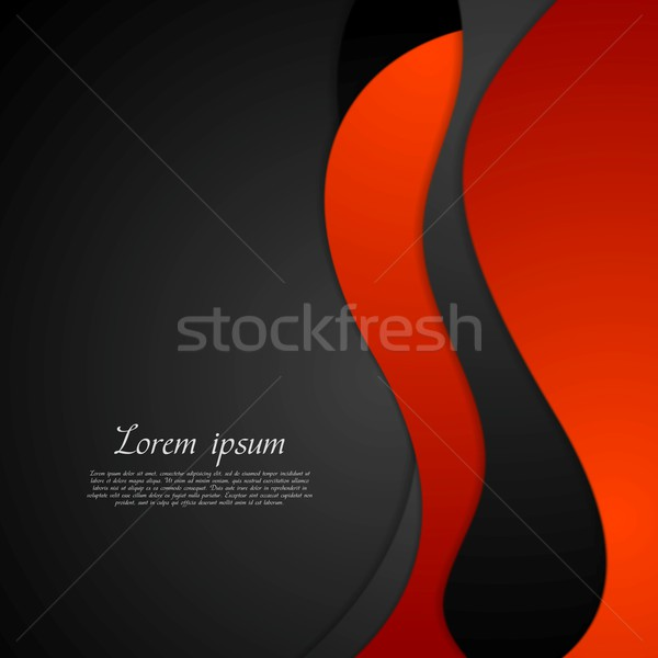 Dark red black abstract wavy background Stock photo © saicle