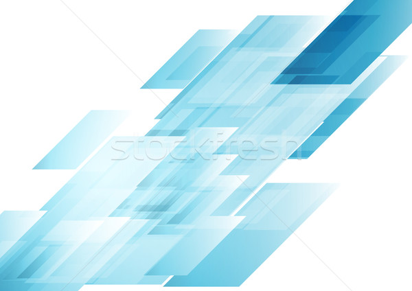 Hi-tech blue shapes abstract vector background Stock photo © saicle