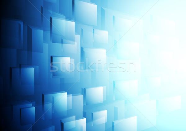 Heldere Blauw vector beweging sjabloon brochure Stockfoto © saicle