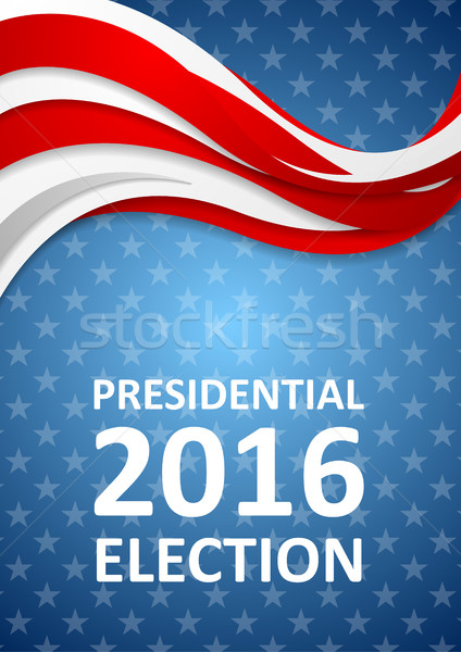 USA Presidential Election 2016 flyer template Stock photo © saicle
