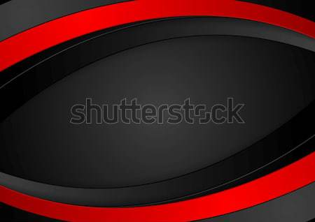 Contrast red black technology background Stock photo © saicle