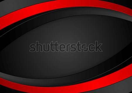 контраст красный черный технологий металлический Мир карта Сток-фото © saicle