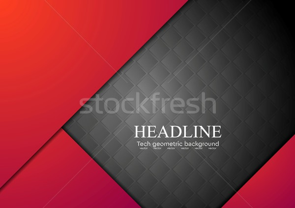 Dark red corporate abstract background Stock photo © saicle