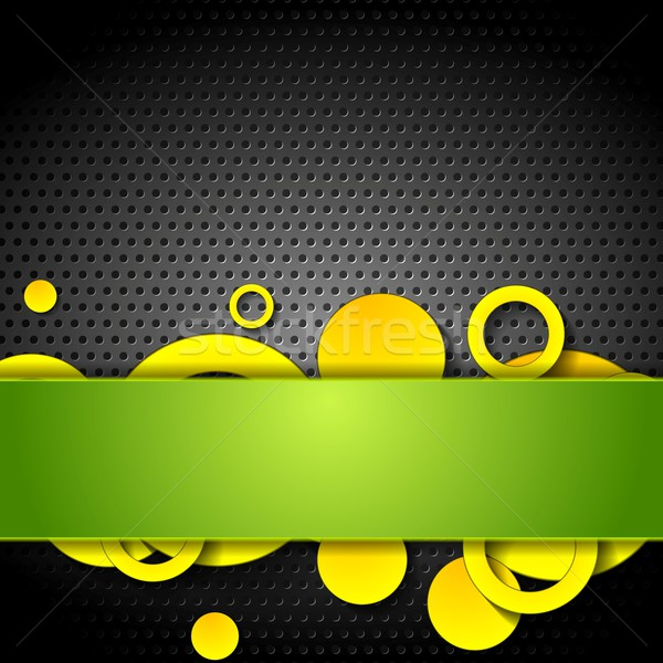 Metal perforated texture and tech elements Stock photo © saicle