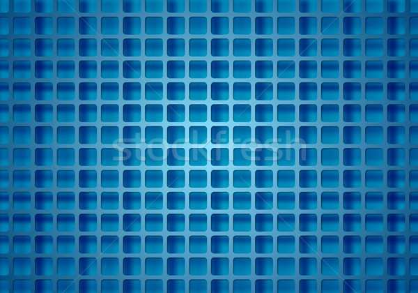 Abstract bright technical squares grid Stock photo © saicle