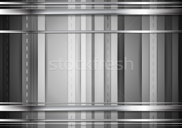 Grey tech background with silver stripes Stock photo © saicle