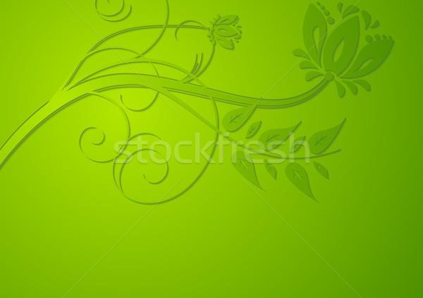 ярко вектора цветочный аннотация зеленый текстуры Сток-фото © saicle