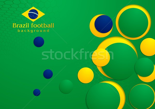 Abstract background in Brazilian colors Stock photo © saicle