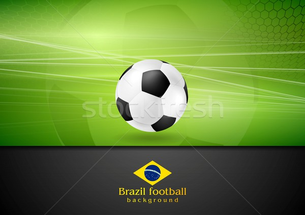 Abstract football background with soccer ball Stock photo © saicle