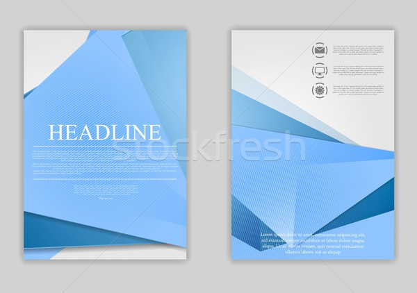 Streszczenie niebieski minimalny tech ulotki projektu Zdjęcia stock © saicle
