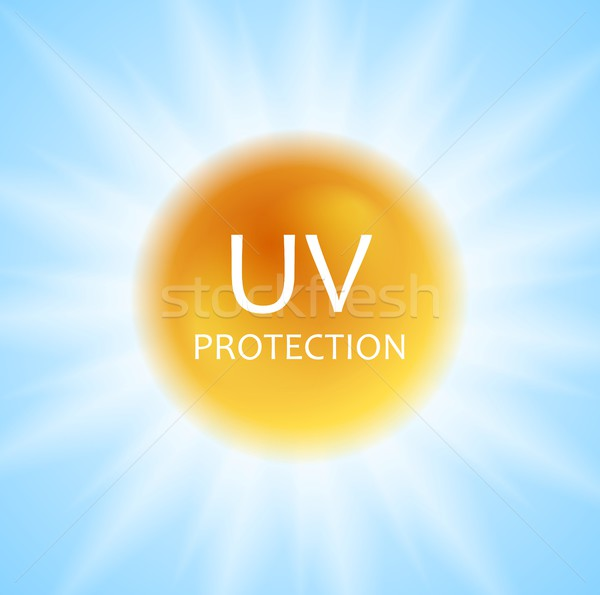 UV protection concept design with shiny sun and sunlight Stock photo © saicle