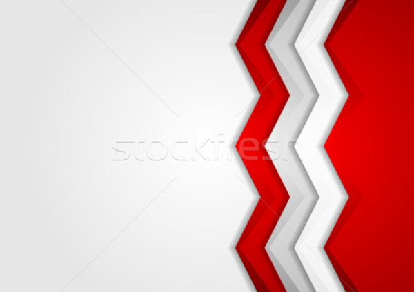 Contrast red and grey tech arrows background Stock photo © saicle
