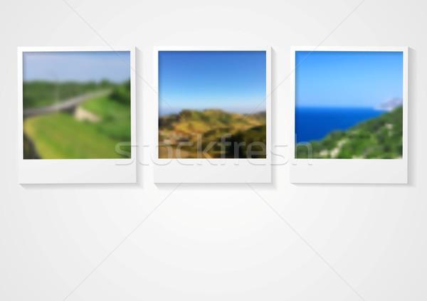 Foto stock: Polaroid · foto · marcos · resumen · empresarial · diseno