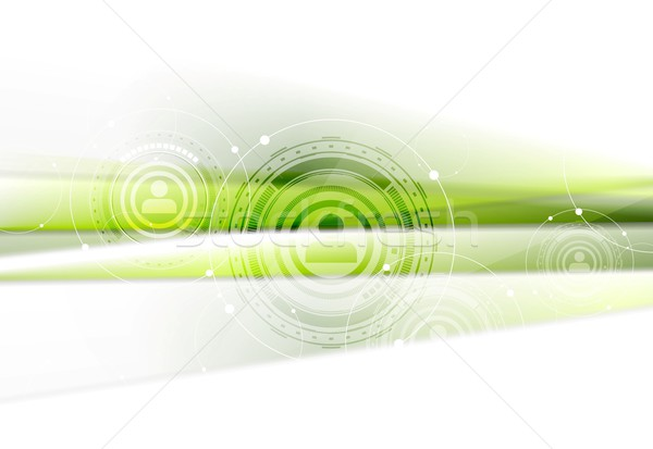 Green technology background with HUD elements Stock photo © saicle