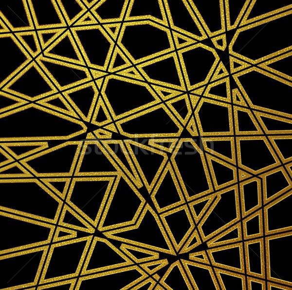 Retro nero pattern design Foto d'archivio © saicle