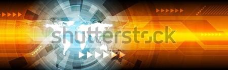 Abstract hi-tech bright web banner design Stock photo © saicle