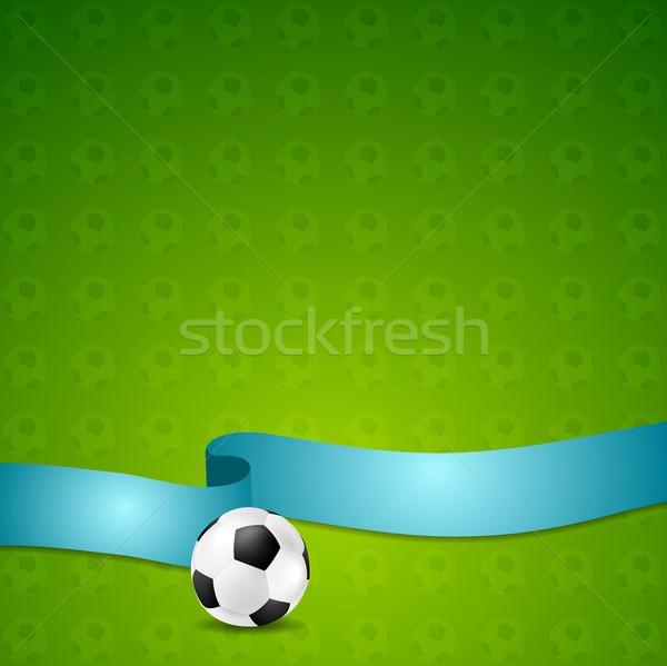 Soccer football vector background Stock photo © saicle