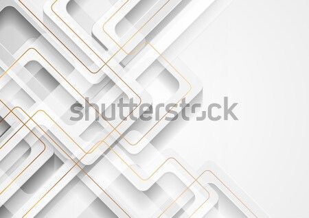 Abstract grey paper tech hexagon shapes background Stock photo © saicle